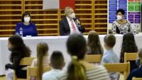Zeman zahájil školní rok v ZŠ a MŠ Merhautova v Brně