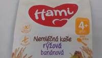 Nemléčná rýžová kaše značky Hami