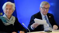 Christine Lagardeová a Jean-Claude Juncker